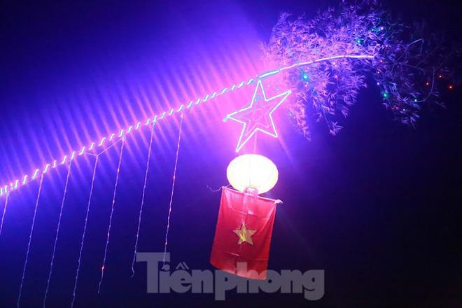 Rực sáng những cung đường nêu đón Tết ở xứ Nghệ - Ảnh 7.