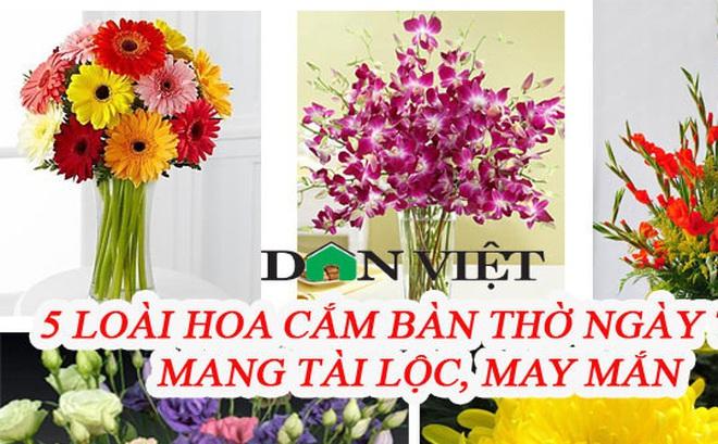 5 loại hoa cắm bàn thờ dịp Tết hút tài lộc, may mắn trong năm mới