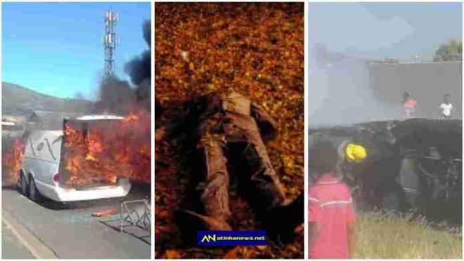 Xe chở người chết bỗng dưng bốc cháy, khi chạy đến nơi ai cũng sốc với cảnh tượng trước mắt - Ảnh 1.