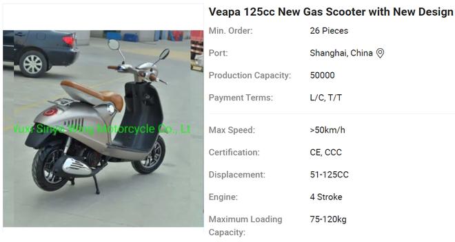 Lộ diện xe máy giống như lột Vespa 946, rẻ hơn cả Honda Wave Alpha, giá chỉ 10 triệu đồng - Ảnh 1.