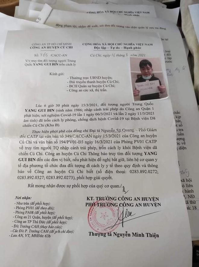 Người đàn ông quốc tịch Trung Quốc trốn khỏi khu cách ly ở TPHCM - Ảnh 1.