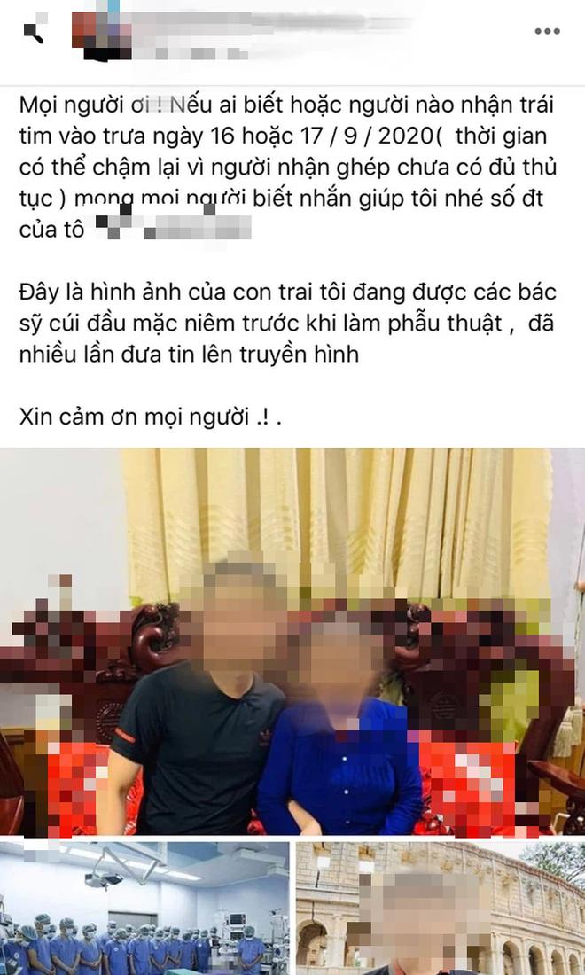 Gia đình người hiến tim muốn tìm người được ghép tim: Giám đốc BV Việt Đức nói gì? - Ảnh 1.