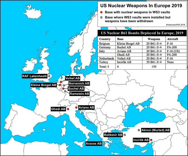 Mỹ bí mật rút vũ khí hạt nhân khỏi châu Âu? - Ảnh 1.