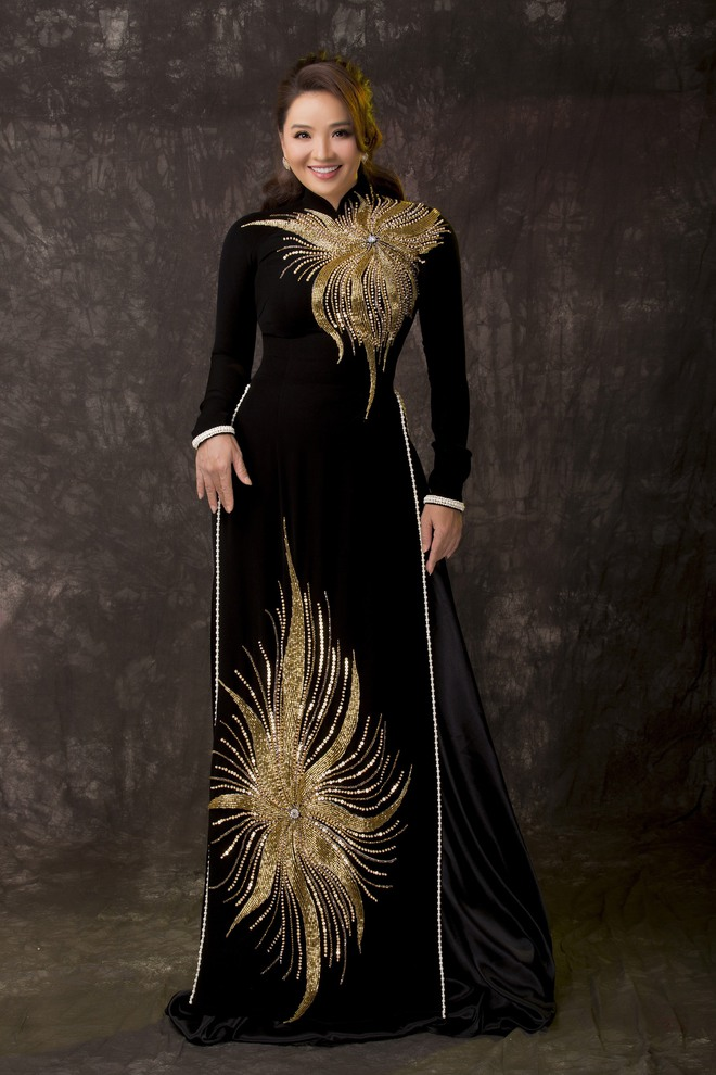 Diễn viên Hoài An quý phái với áo dài NTK Minh Châu - Ảnh 10.