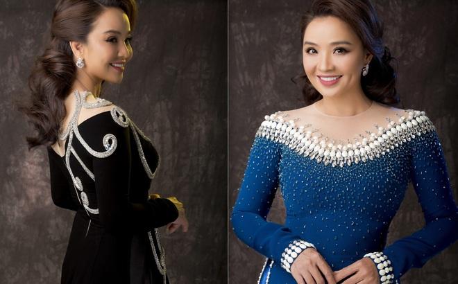 Diễn viên Hoài An quý phái với áo dài NTK Minh Châu