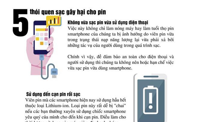 5 thói quen sạc gây hại cho pin điện thoại