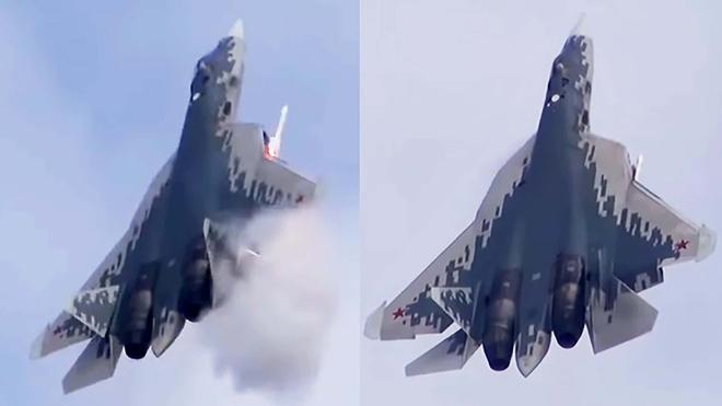 Su-57 Nga khạc lửa, nhả đạn pháo 1.500 phát/phút: Lộ hình ảnh chưa từng thấy! - Ảnh 2.