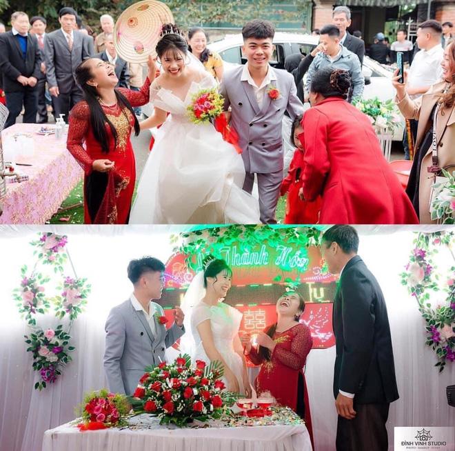 Ngày con trai lấy vợ, biểu cảm của mẹ chiếm trọn sự chú ý: Cười sung sướng từ lúc đón dâu về tới khi trao quà - Ảnh 1.