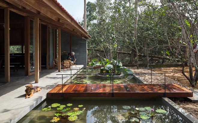 Huế: Ngôi nhà gỗ nằm trọn trong khu vườn ngập tràn hoa bưởi đẹp lạ trên báo Mỹ
