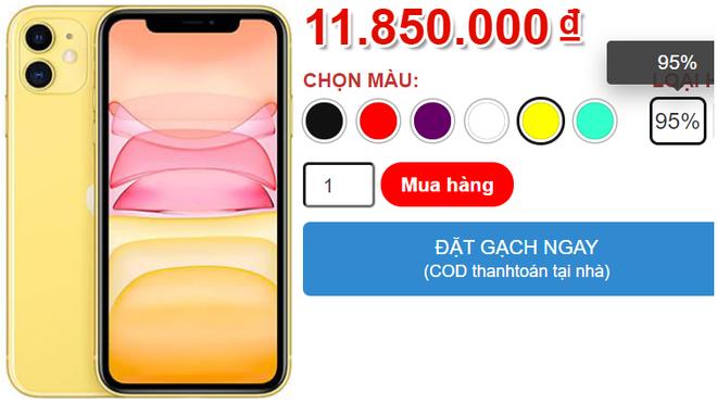 """Giá iPhone 11 giảm xuống dưới 12 triệu đồng, hàng chưa đập hộp """"bay"""" 6 triệu - Ảnh 1."""