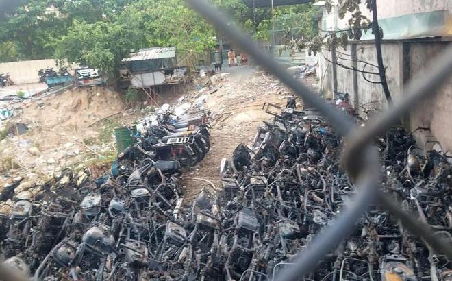 Công an TP HCM chỉ đạo điều tra vụ cháy kho giữ xe vi phạm, tang vật của CSGT TP Thủ Đức