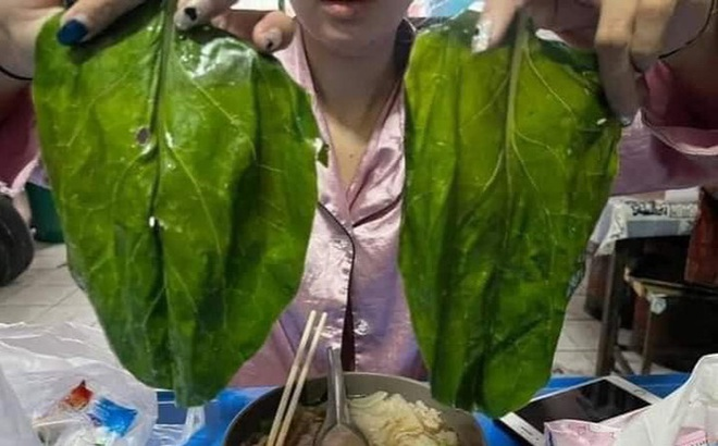 Ăn mỗi bát mì mà được chủ quán cho nguyên lá mồng tơi siêu bự, cô gái đăng ảnh khoe khiến dân mạng 'cười muốn rớt răng'
