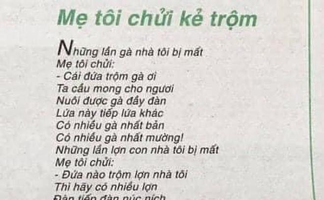 """Nhà thơ Trần Đăng Khoa nói về nghi vấn """"đạo ý tưởng"""" của """"Mẹ tôi chửi kẻ trộm"""""""