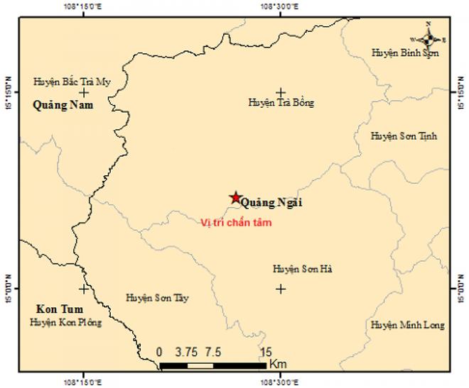 Liên tiếp xảy ra 2 trận động đất tại Quảng Ngãi - Ảnh 2.