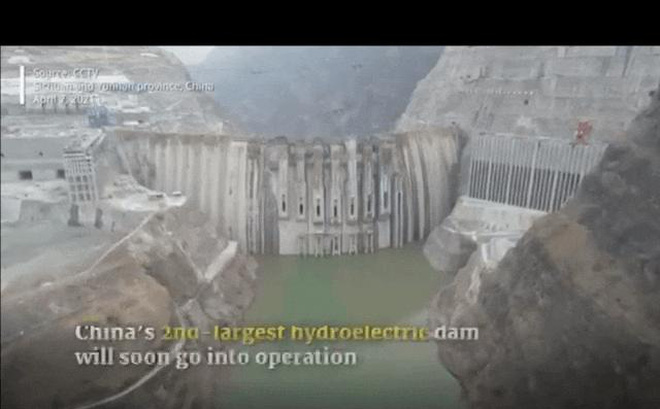 Đập vòm lớn nhất thế giới ở Trung Quốc bước vào giai đoạn quan trọng