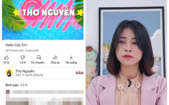 """Kênh youtube Thơ Nguyễn trở lại với mục tiêu đạt nút kim cương, cư dân mạng nổi giận đòi """"đánh sập"""""""