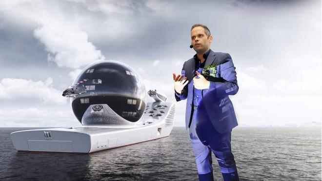Siêu du thuyền lớn nhất hành tinh Earth 300: Giấc mơ xanh của những bộ óc thiên tài - Ảnh 1.