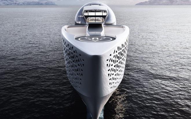 """""""Pháo đài nổi"""" Earth 300: Siêu du thuyền lớn nhất hành tinh sắp làm rung chuyển thế giới Superyacht"""