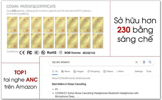 TOP 1 Amazon - Tai nghe chống ồn chủ động COWIN chính thức về Việt Nam. - Ảnh 1.