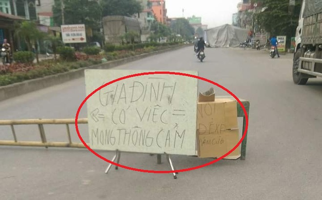 Tấm biển mọc giữa đường ở Bắc Ninh, nội dung khiến tất cả bức xúc