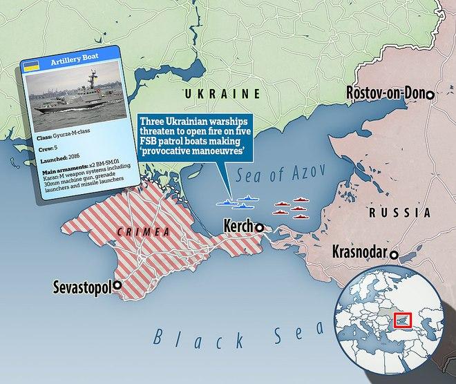 3 pháo hạm Ukraine dọa nổ súng, 5 tàu Nga tháo chạy - Bị tấn công liên tiếp, Israel báo động, loạt chiến cơ xuất kích tung đòn sấm sét - Ảnh 1.