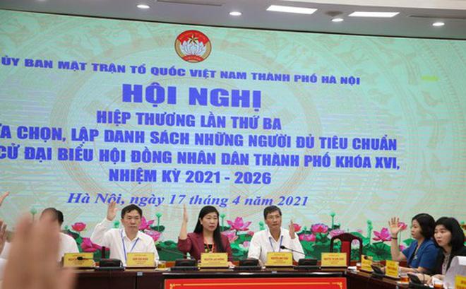 Thông qua danh sách 160 ứng cử viên đại biểu HĐND thành phố Hà Nội