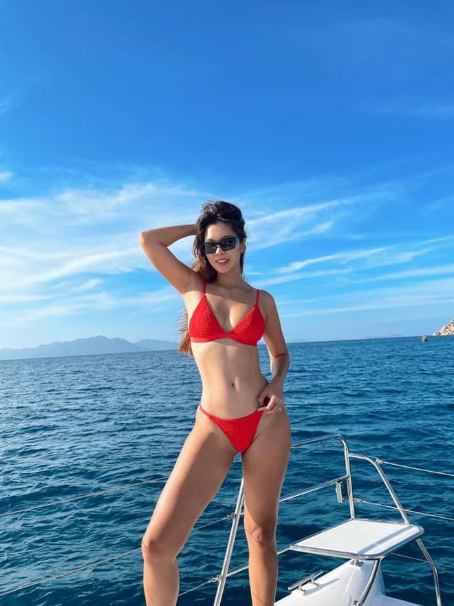 Siêu mẫu Hà Anh diện bikini, tạo dáng gợi cảm bên chồng Tây - Ảnh 2.