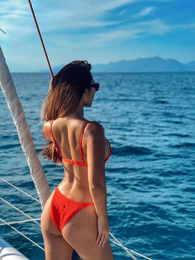 Siêu mẫu Hà Anh diện bikini, tạo dáng gợi cảm bên chồng Tây - Ảnh 3.