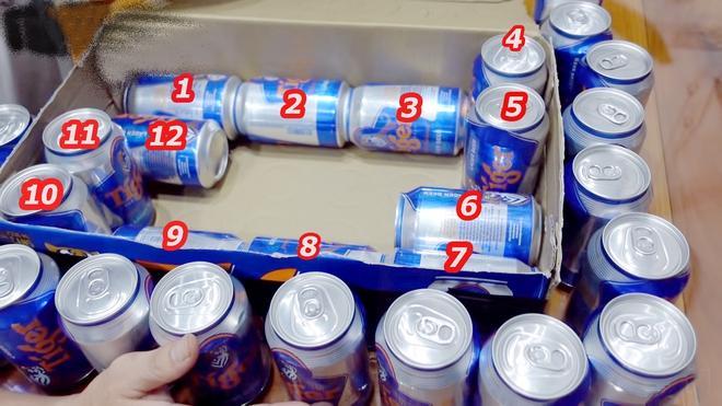 Làm thế nào xếp 28 lon bia vào thùng bia 24 lon? Tưởng không thể mà dễ không tưởng! - Ảnh 2.