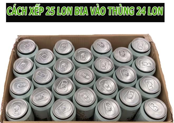 Làm thế nào xếp 25 lon bia vào thùng bia 24 lon? Tưởng không thể mà dễ không tưởng! - Ảnh 2.