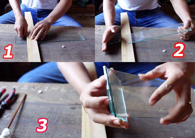 Tuyệt chiêu cắt kính dễ dàng, nhanh chóng như cắt giấy mà không cần mua dao cắt kính - Ảnh 2.
