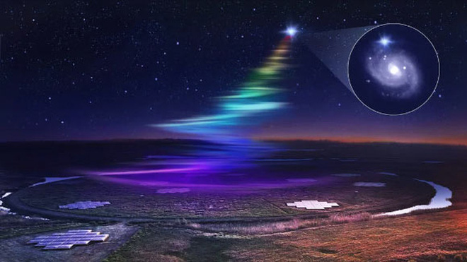 Thiên hà khác phát tín hiệu cầu vồng xuống Trái Đất 18 lần - Ảnh 1.