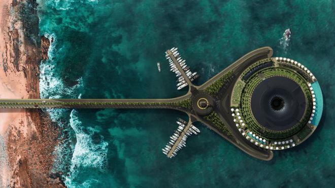 Khách sạn nổi xoay 360 độ tự cung ứng điện - Ảnh 1.