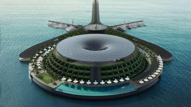Khách sạn nổi xoay 360 độ tự cung ứng điện - Ảnh 2.