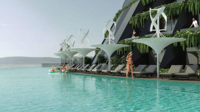Khách sạn nổi xoay 360 độ tự cung ứng điện - Ảnh 4.