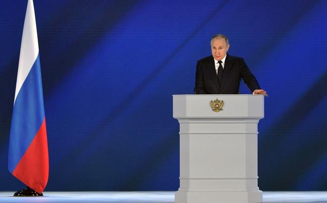 """Thông điệp liên bang 2021: Ông Putin lên án phương Tây, """"điểm danh"""" âm mưu đảo chính và sát hại Tổng thống Belarus"""