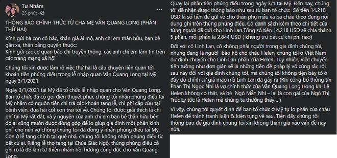 Cha mẹ Vân Quang Long công khai mục đích sử dụng tiền phúng điếu, xin trả nợ cho con trai - Ảnh 4.