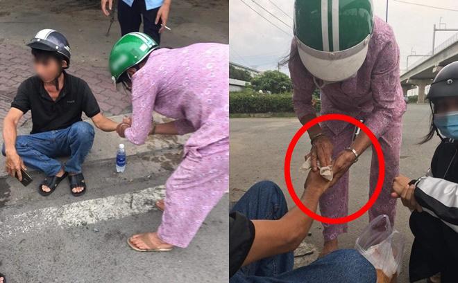Sau vụ va chạm giao thông, một người phụ nữ chạy đến giúp đỡ, nghe lời dặn dò sau đó ai cũng ấm lòng