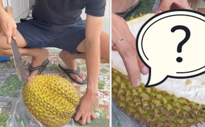 Mua trái sầu riêng nặng 5kg với giá 600k, tới lúc xẻ ra ăn chàng trai thì thảng thốt, còn dân mạng lại tranh cãi vì điều này