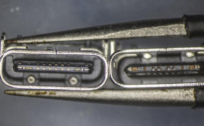 So sánh đầu nối USB-C loại 1 nghìn đồng và 5 nghìn đồng dưới kính hiển vi: đắt hơn gấp 5 nhưng chất lượng có hơn tương xứng?