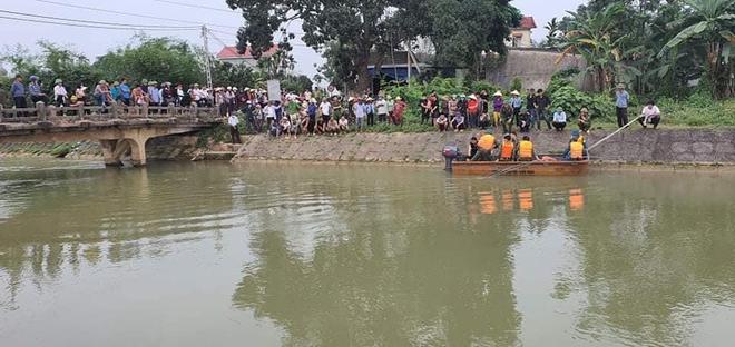Cả trăm người giăng lưới, chạy thuyền dọc sông Đào tìm kiếm thi thể nam sinh lớp 6 - Ảnh 1.