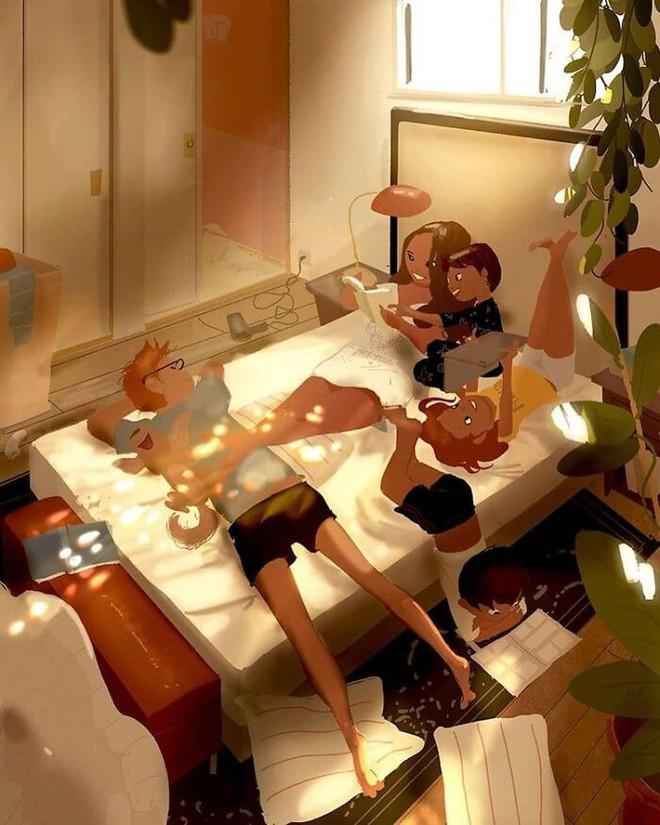 Bộ tranh độc đáo về những khoảnh khắc hàng ngày của mọi gia đình: Ai cũng thấy mình trong đó - Ảnh 4.