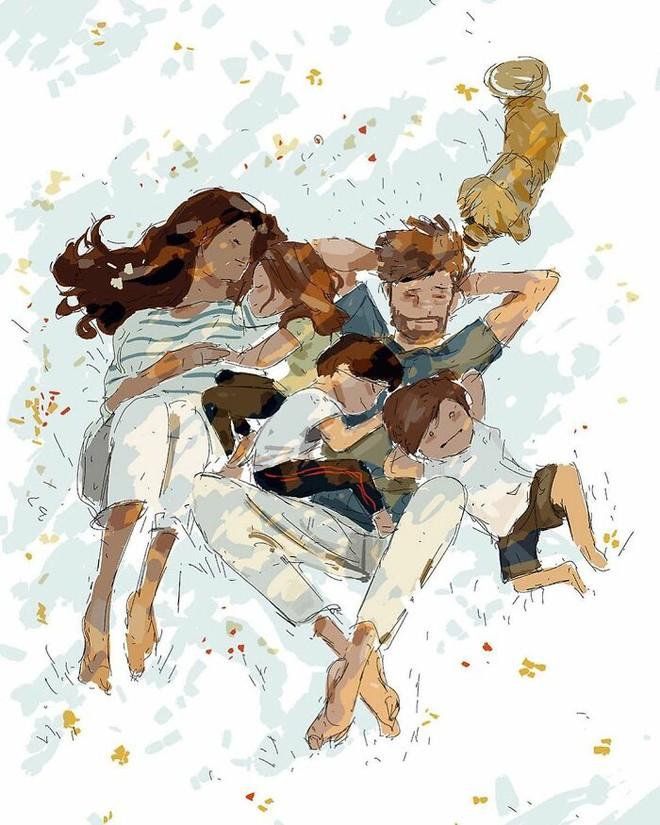 Bộ tranh độc đáo về những khoảnh khắc hàng ngày của mọi gia đình: Ai cũng thấy mình trong đó - Ảnh 6.
