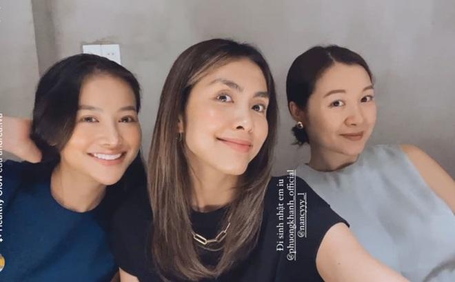 Hà Tăng khoe visual trong tiệc sinh nhật Phương Khánh, mẹ 2 con mà nhan sắc lấn át cả Hoa hậu trái đất