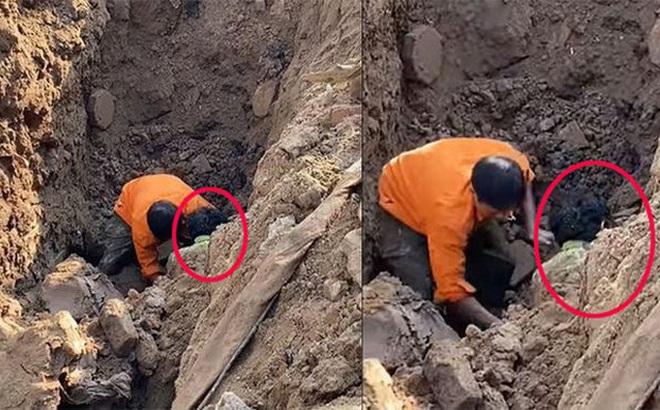 """Sức khỏe người đàn ông """"đào được dưới hố sâu 2 m"""" ra sao?"""