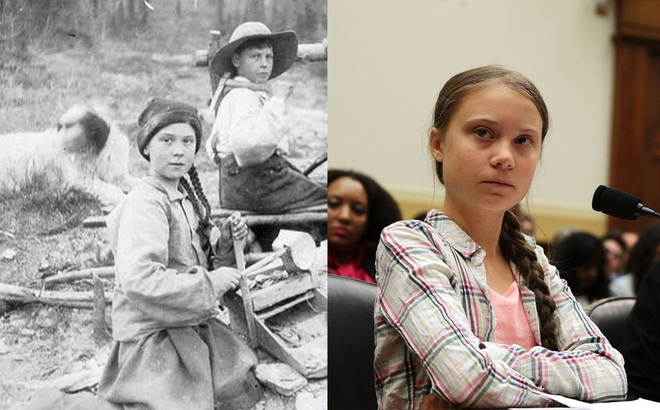 Rò rỉ bức ảnh 120 năm tuổi nghi là bằng chứng xuyên không của 'huyền thoại' Greta Thunberg?