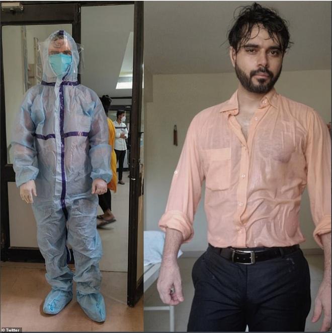 Bác sĩ Ấn Độ trong tâm bão Covid-19 đăng bức hình gây chấn động mạng xã hội - Ảnh 1.