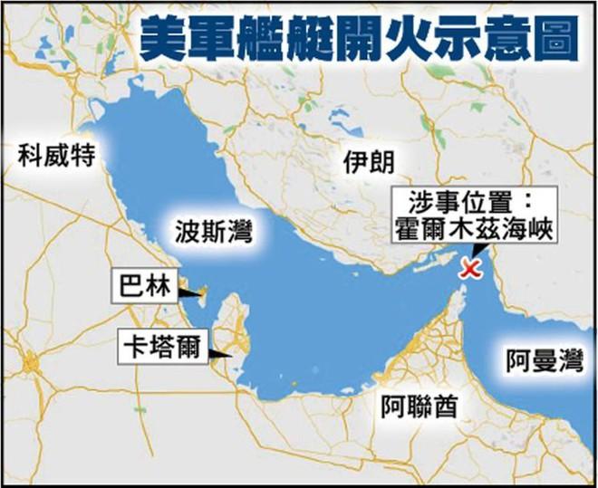 Xem video tàu Iran và tàu Mỹ đối đầu nhau trên Vịnh Ba Tư - Ảnh 3.