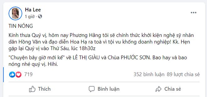 Bà Nguyễn Phương Hằng tuyên bố khởi kiện NSND Hồng Vân và NSƯT Hoa Hạ - Ảnh 4.