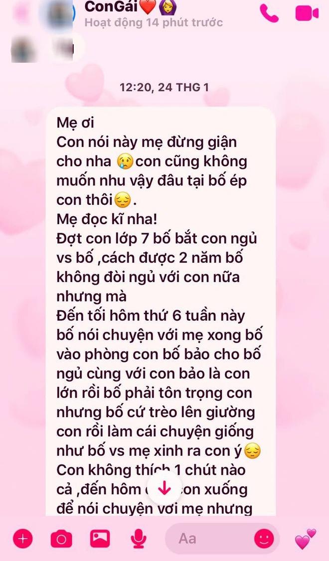 Vụ con gái tố bố hiếp dâm ở Phú Thọ: Dòng tin nhắn đẫm nước mắt gửi mẹ - Ảnh 1.